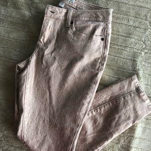 Pink/rose gold Boston Proper jeans